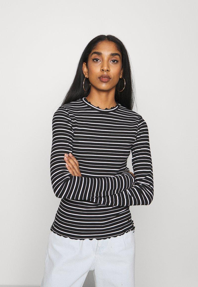 Even&Odd - Long sleeved top - black/white