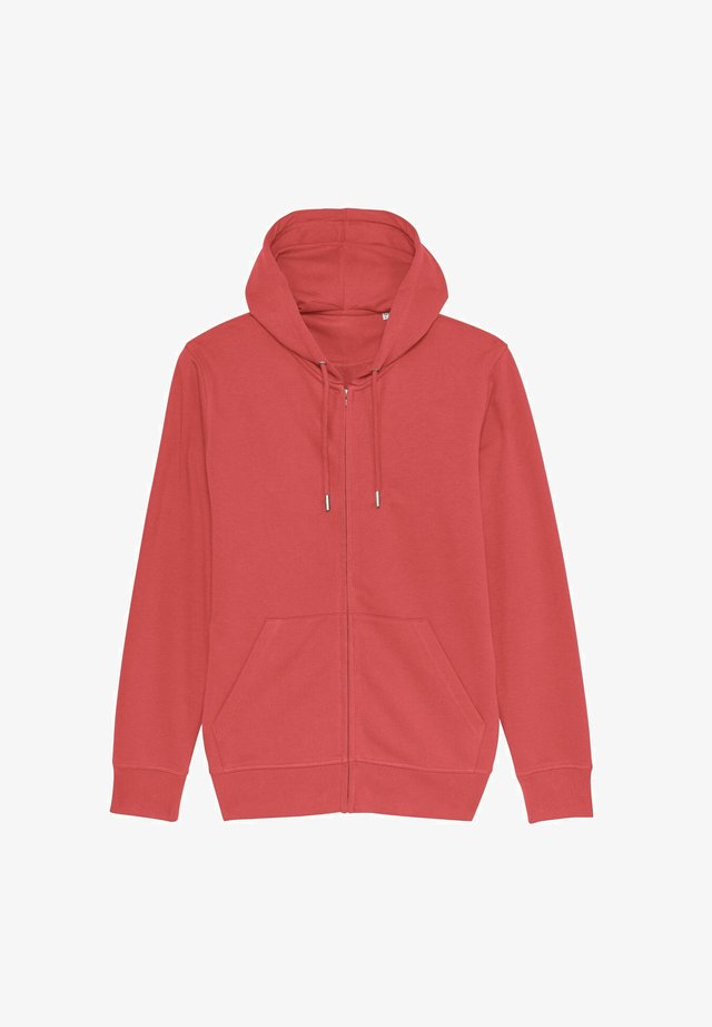 Zip-up hoodie - carmine red