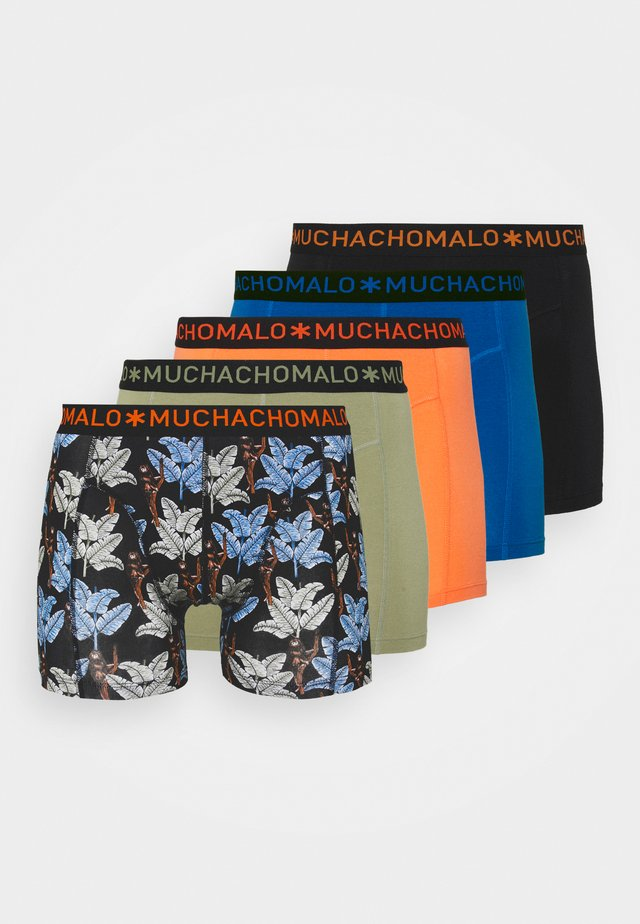 BANANA 5 PACK - Boxerky - black/khaki/blue