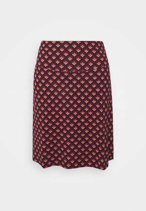 BORDER SKIRT POSE - A-line skirt - grape red