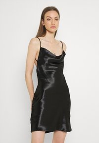 Gina Tricot - MINKY MINI DRESS - Sukienka letnia - black - 0