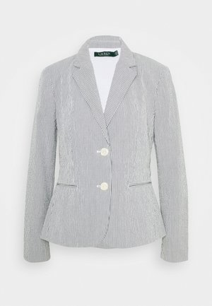 SEERSUCKER JACKET - Blazer - navy/white