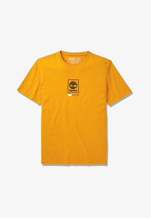 SS LOGO PLAY - Print T-shirt - dark cheddar