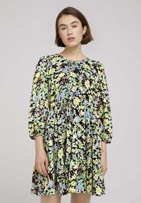 TOM TAILOR DENIM - LIGHT MINI DRESS - Day dress - multi-coloured - 0