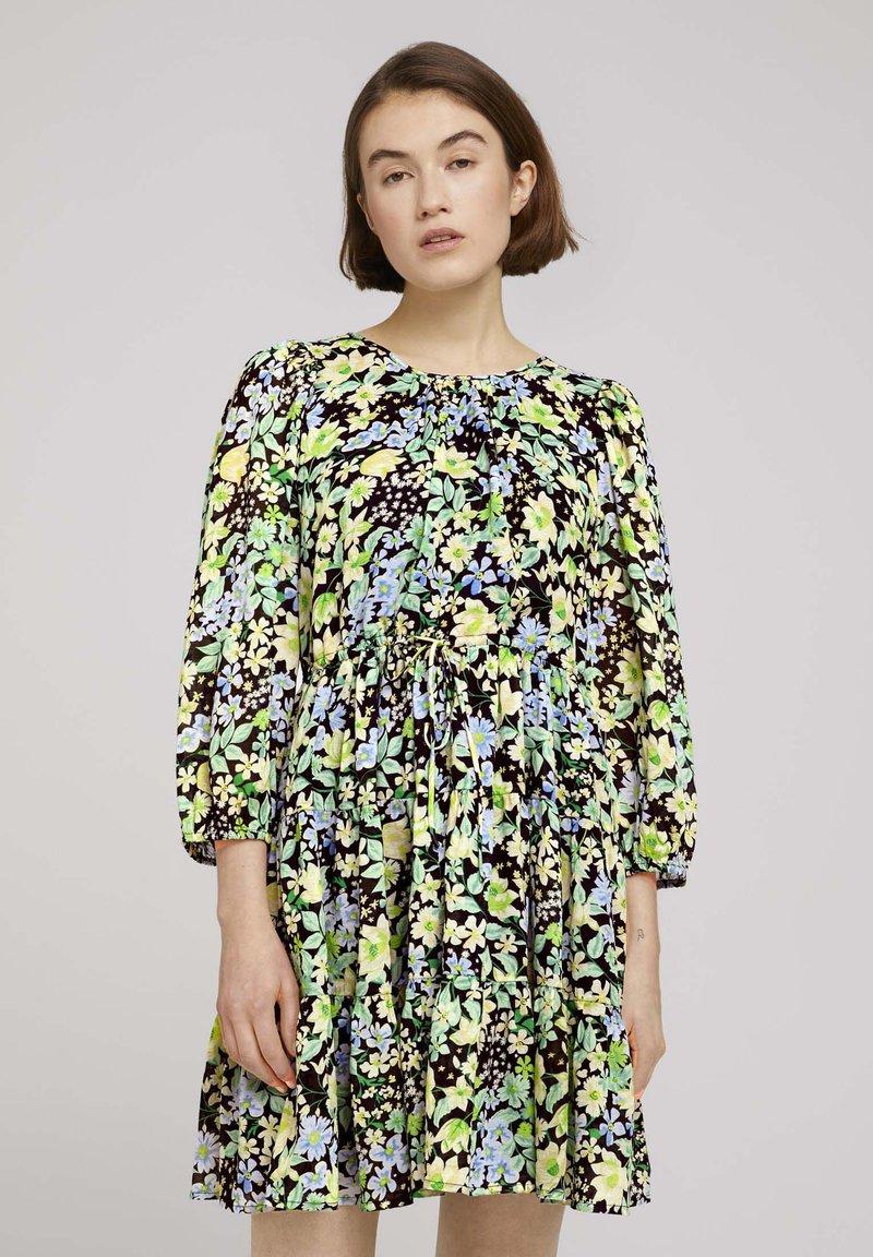 TOM TAILOR DENIM - LIGHT MINI DRESS - Day dress - multi-coloured