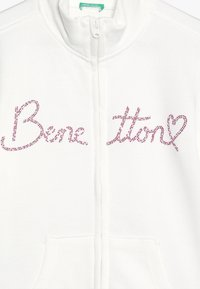 Benetton - JACKET - Zip-up hoodie - white