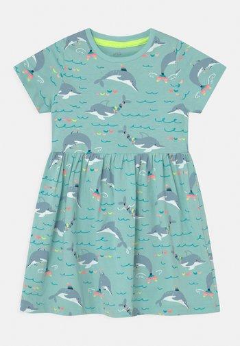 DOLPHIN DRESS - Jersey dress - aqua