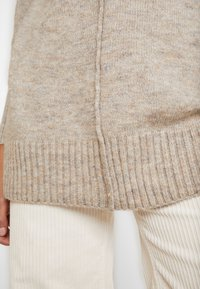 ONLY - ONLELAINA LONG - Stickad tröja - simply taupe melange - 6