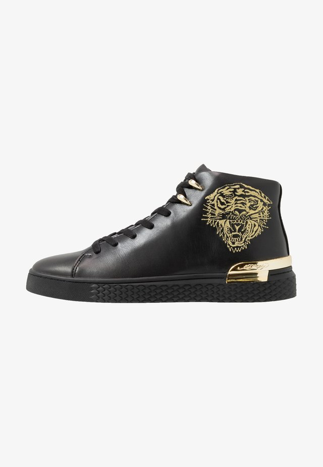 NEW BEAST TOP - Höga sneakers - black/gold
