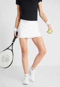 Nike Performance - DRY SKIRT - Sports skirt - white/black - 0