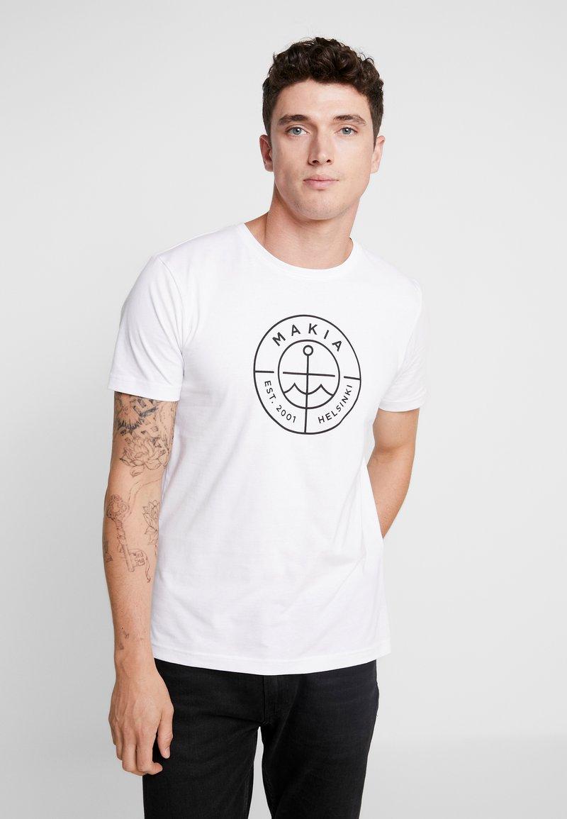 Makia - SCOPE - T-shirt imprimé - white