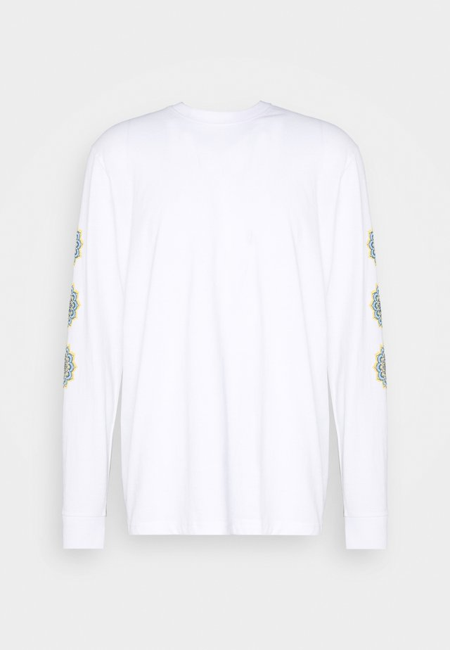 FRONT & BACK GRAPHIC PRINTED LONG SLEEVE - Pitkähihainen paita - white