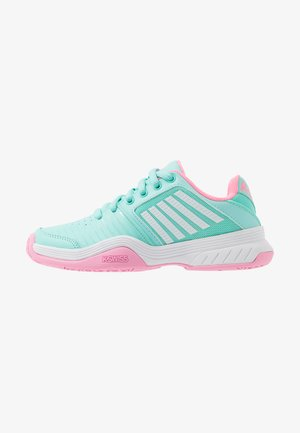 COURT EXPRESS OMNI UNISEX - Multicourt tennis shoes - aruba blue/soft neon pink/white