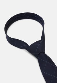 Calvin Klein - LARGE NETTED GRID TIE - Tie - navy - 3