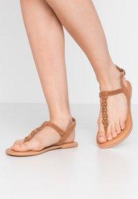 New Look Wide Fit - WIDE FIT GINA - Sandaler m/ tåsplit - tan - 0