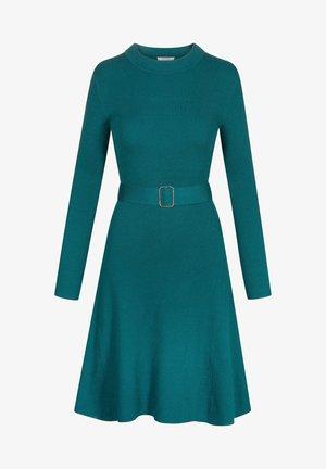 MIT GÜRTEL - Jumper dress - blaugrün