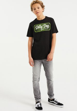 MET OPDRUK - T-shirt con stampa - black