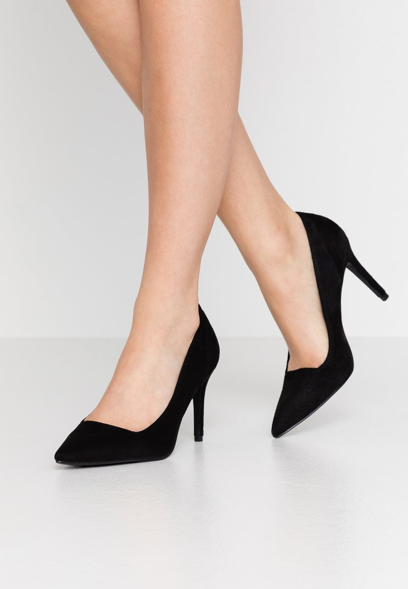 Lost Ink Wide Fit - COURT WITH COUNTER DETAIL - High heels - black