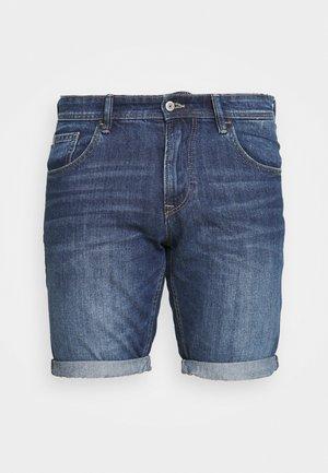 BERMUDA - Denim shorts - light stone blue denim