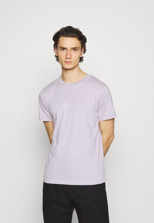 UNISEX ESSENTIAL DROP SHOULDER SS T SHIRT - Triko s potiskem - purple