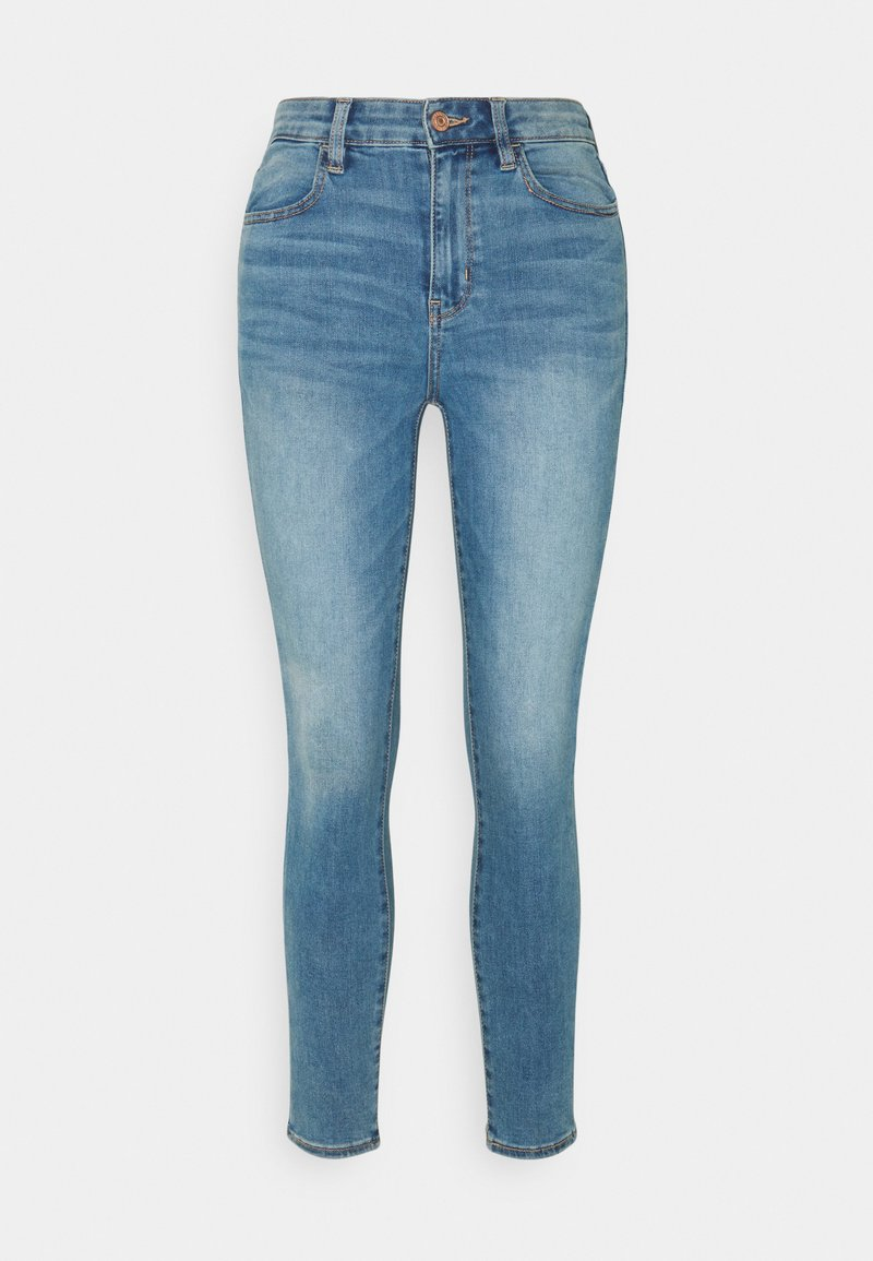 American Eagle - SUPER HIGH RISE - Jeans Skinny Fit - authentic light