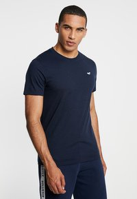 Hollister Co. - ICON VARIETY CREW - Basic T-shirt - navy/mint - 0