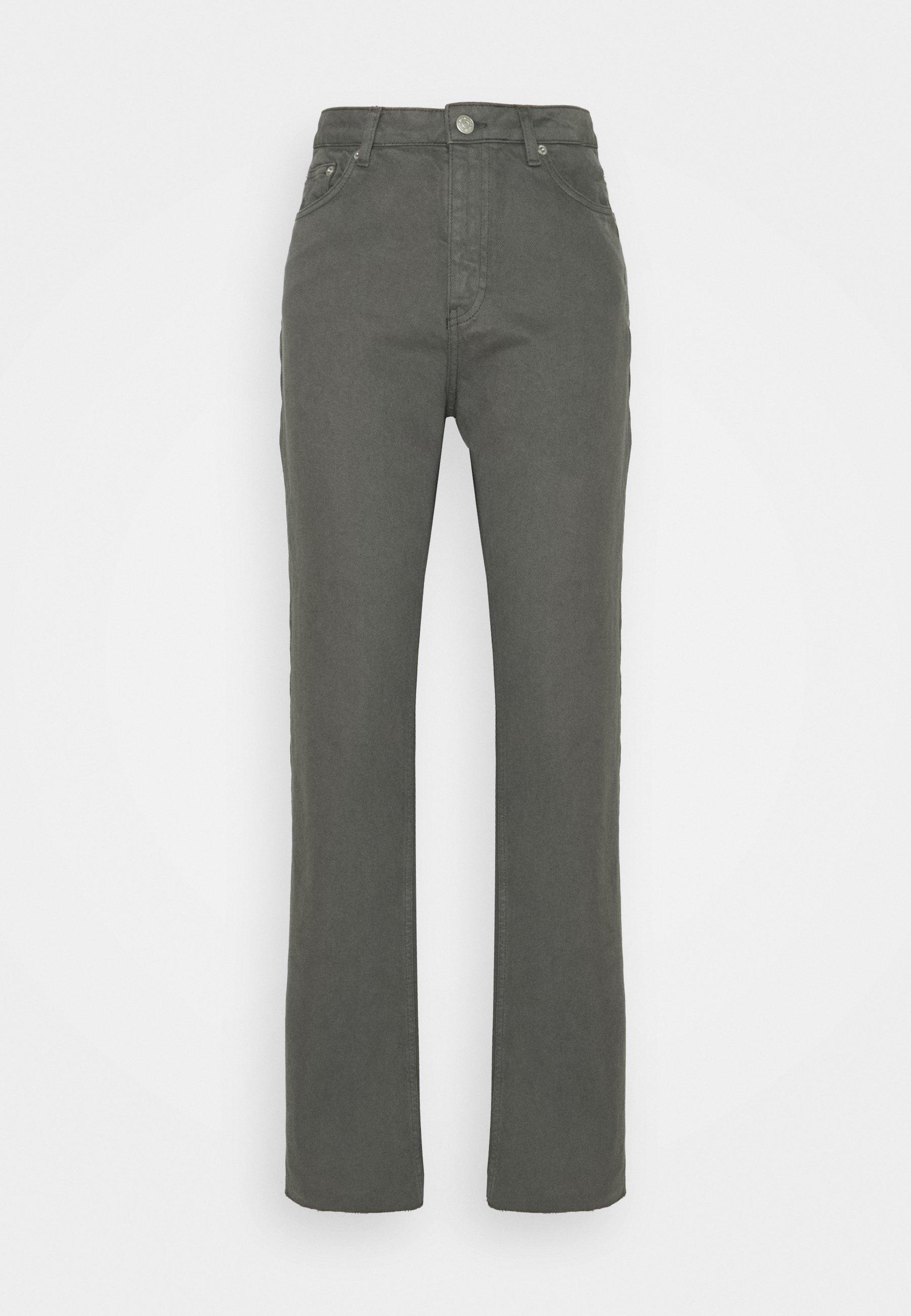 Women HIGH WAIST RAW HEM - Relaxed fit jeans