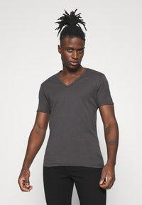 G-Star - BASE 2 PACK - T-shirt basic - lt shadow - 1