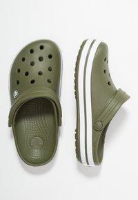 Crocs - CROCBAND UNISEX - Clogs - army green/white - 1