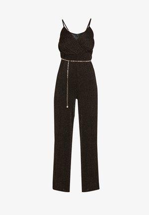 Jumpsuit - schwarz gold