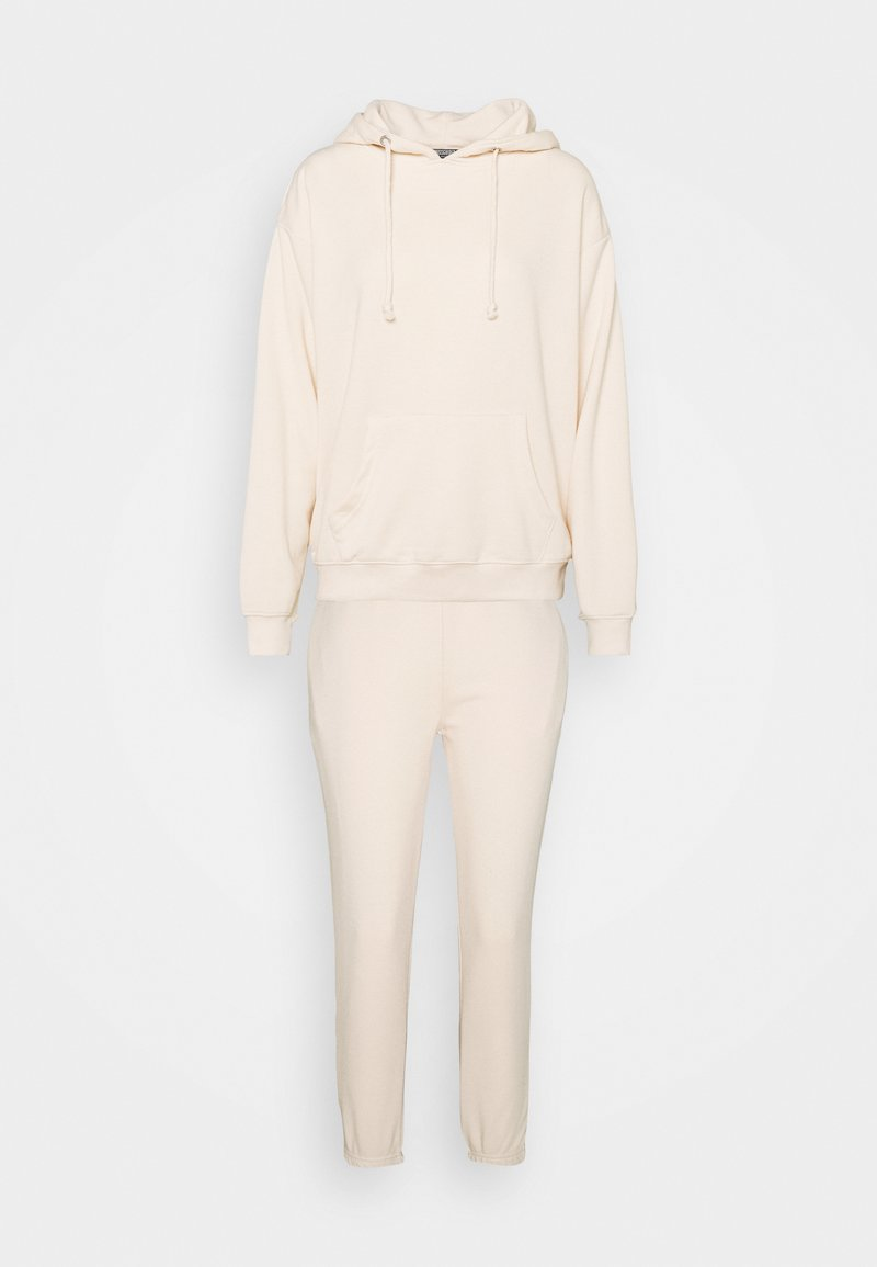Missguided Petite - HOODIE AND JOGGER SET - Hoodie - stone