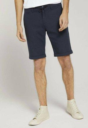 Shorts - navy dobby yarn dye