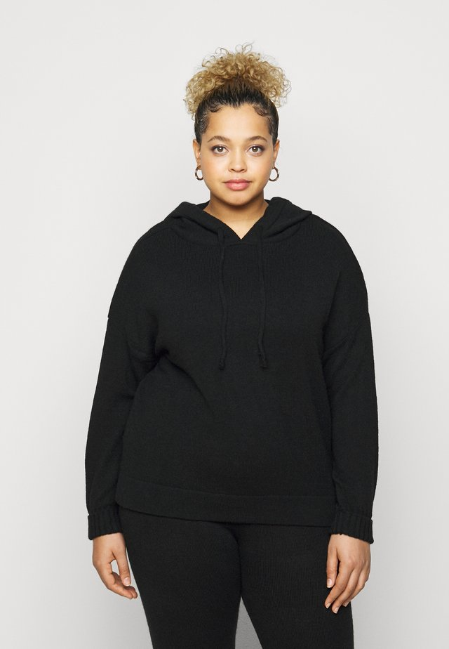 LOUNGE POCKET HOODY - Neule - black