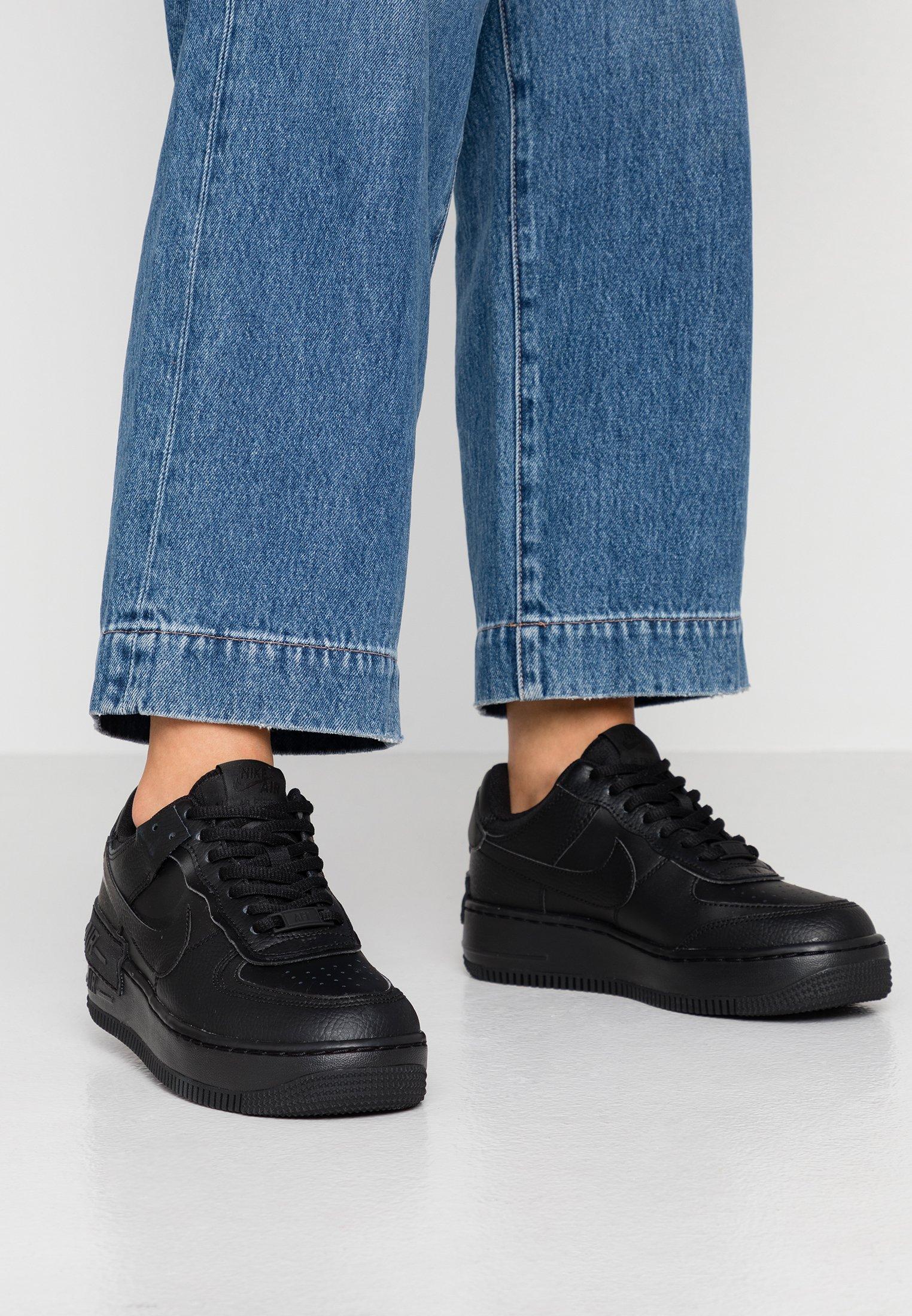 Nike Sportswear Air Force 1 Shadow Zapatillas Black Negro Zalando Es J'aime beaucoup les détails roses. air force 1 shadow zapatillas black