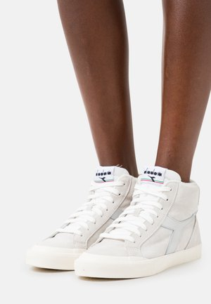 MELODY MID GLOSSY  - Sneakers hoog - white/silver