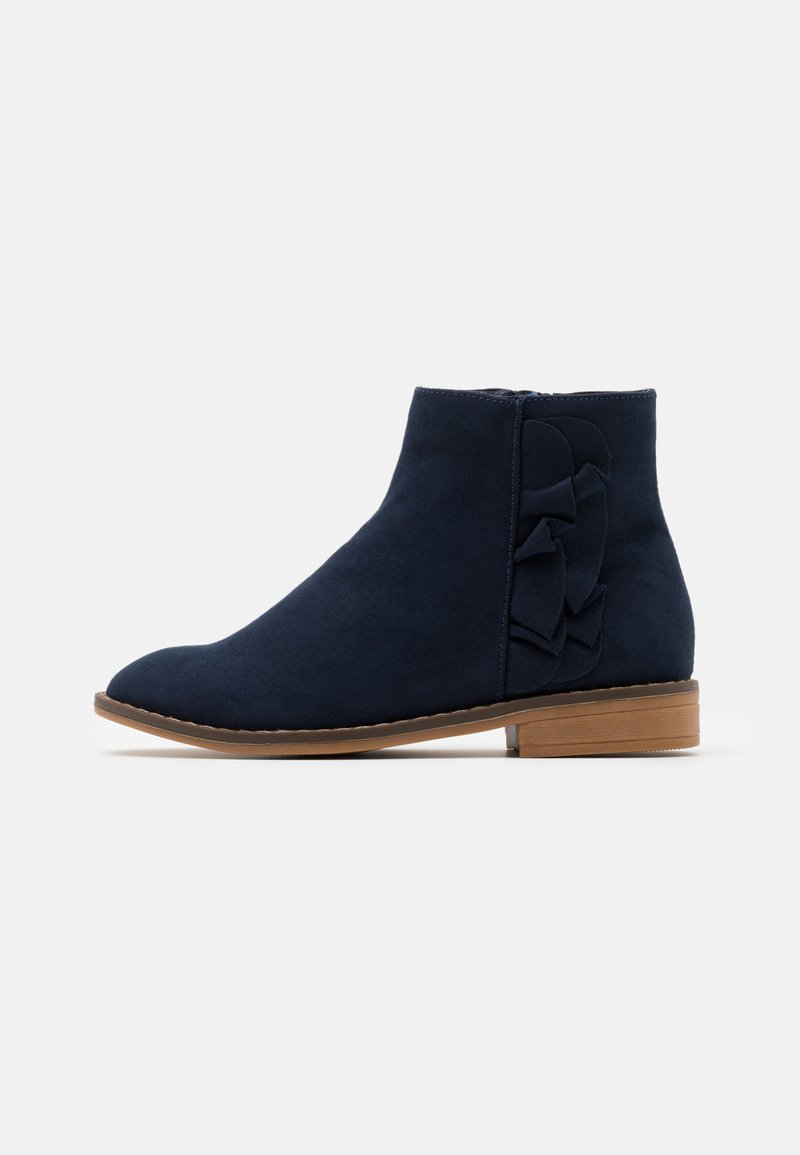 Cotton On - RUFFLE ANKLE BOOT - Classic ankle boots - navy
