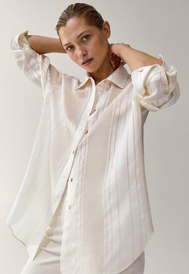 MIT STREIFEN  - Koszula - white