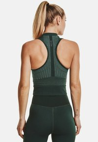 Under Armour - RUSH SEAMLESS CROP - Top - toddy green - 2