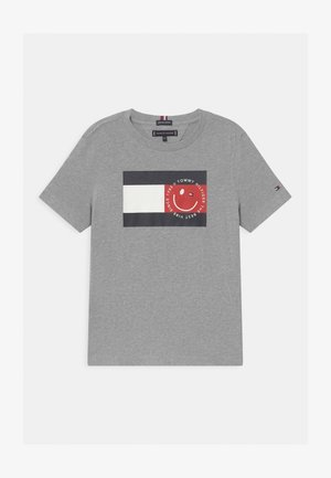 FLAG SMILE UNISEX - T-Shirt print - grey