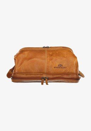 Wash bag - cognac plain