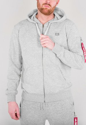 Zip-up hoodie - grey heather