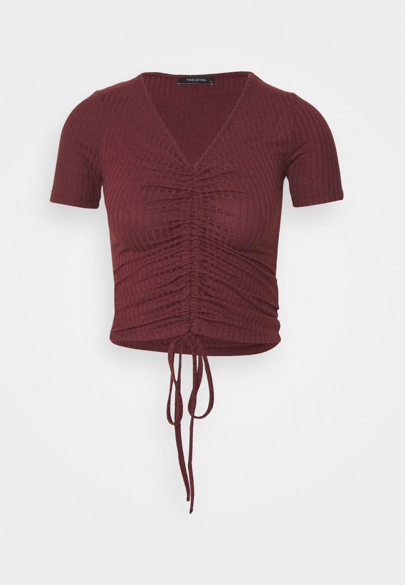 Trendyol - Print T-shirt - burgundy