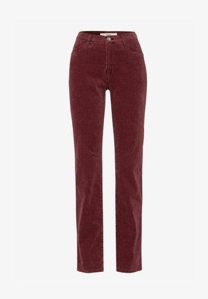 STYLE CAROLA - Pantalon classique - raisin