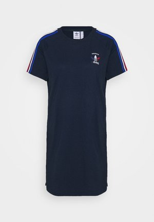 STRIPES SPORTS INSPIRED REGULAR DRESS - Jersey dress - collegiate navy