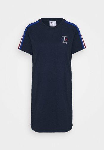 STRIPES SPORTS INSPIRED REGULAR DRESS - Jersey dress - collegiate navy