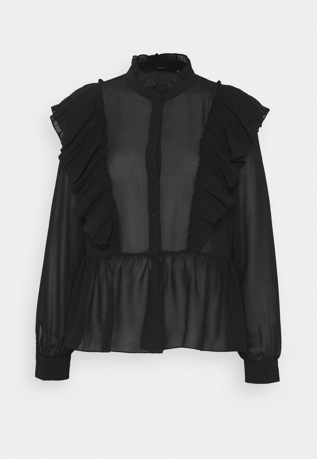 VMIRIS FRILL  - Button-down blouse - black