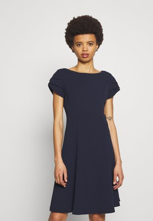 TRIPLE TULIP SLEEVES - Jersey dress - midnight