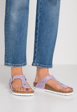 GIZEH - T-bar sandals - metallic lilac