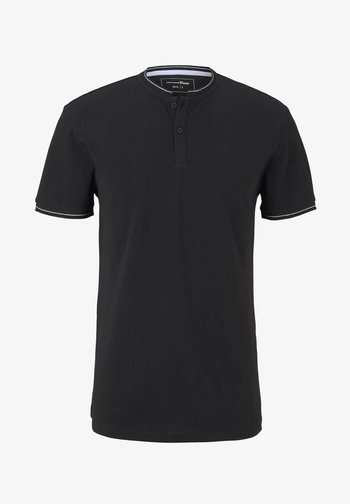 MIT STREHKRAGEN - Basic T-shirt - black