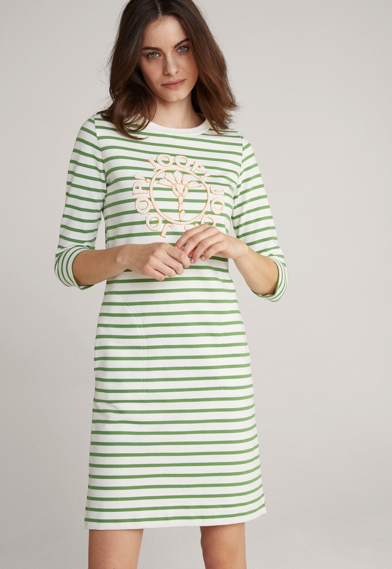 JOOP! - Jersey dress - grün weiß gestreift